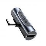 Adaptador Rock Tipo-c 2 Em 1 Para Tipo-c + P2 3.5mm Audio Rcb0669