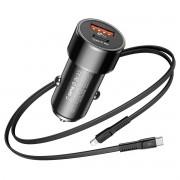 Carregador Veicular Turbo + Cabo Original Baseus para Iphone PD 36w