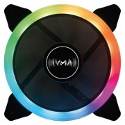 Cooler Fan Aura Gamer 120mm RGB com 5 Cores Fixas Mymax