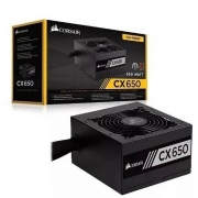 Fonte Atx Corsair CX650 80 Plus Bronze 650w Pfc Ativo