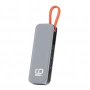 Hub Adaptador 9 em 1 Tipo-C 4x USB + PD + 4k HDMI + RJ45 Internet Rock