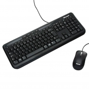 Teclado e Mouse Microsoft Wired ABNT2 Desktop 600 Resistente