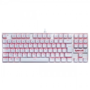 Teclado Kumara Lunar Branco Singlecolor Switch Outemu Blue
