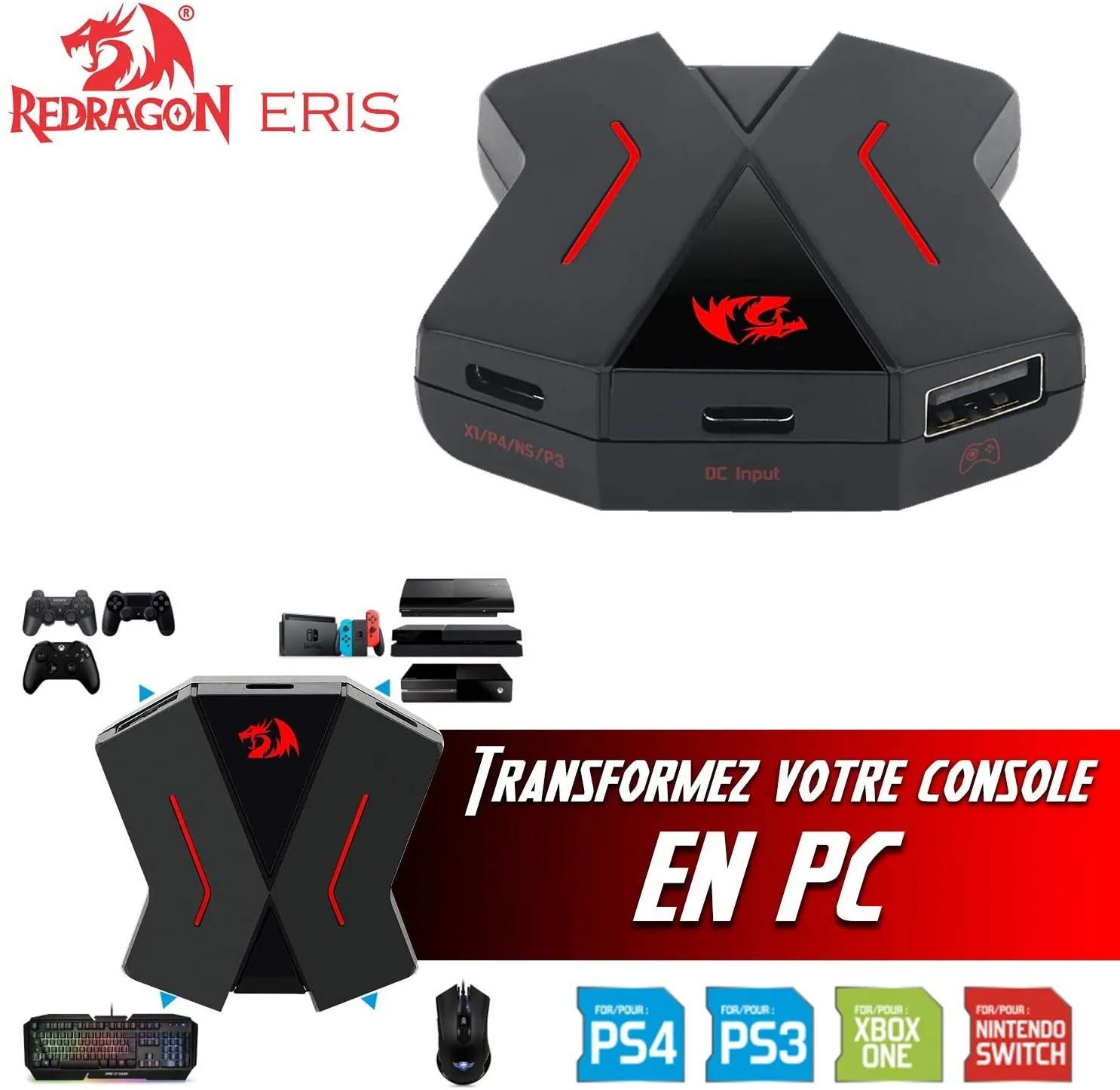 Adaptador Conversor Hub Teclado Mouse Ps4 Xbox One Redragon Eris Ga-200