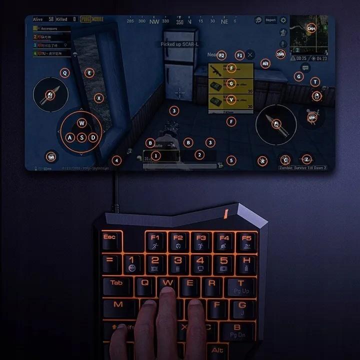 Adaptador Gamer Hub Para Teclado e Mouse Baseus Ga01 Android Ios PC