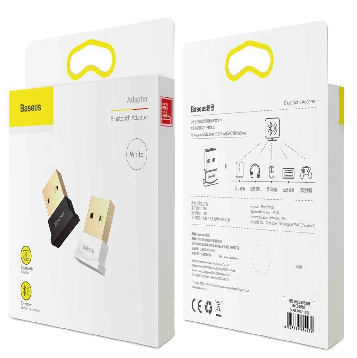 Adaptador USB Bluetooth 4.0 Baseus Para Pc Notebook