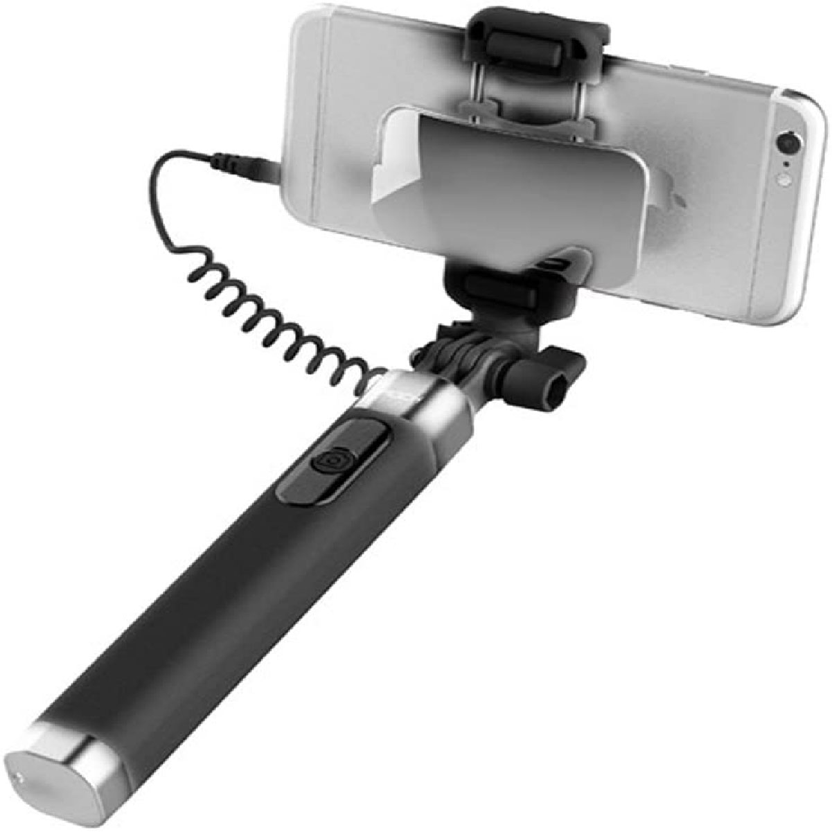 Bastão de Selfie Stick Alúminio Rock Com Espelho Preto