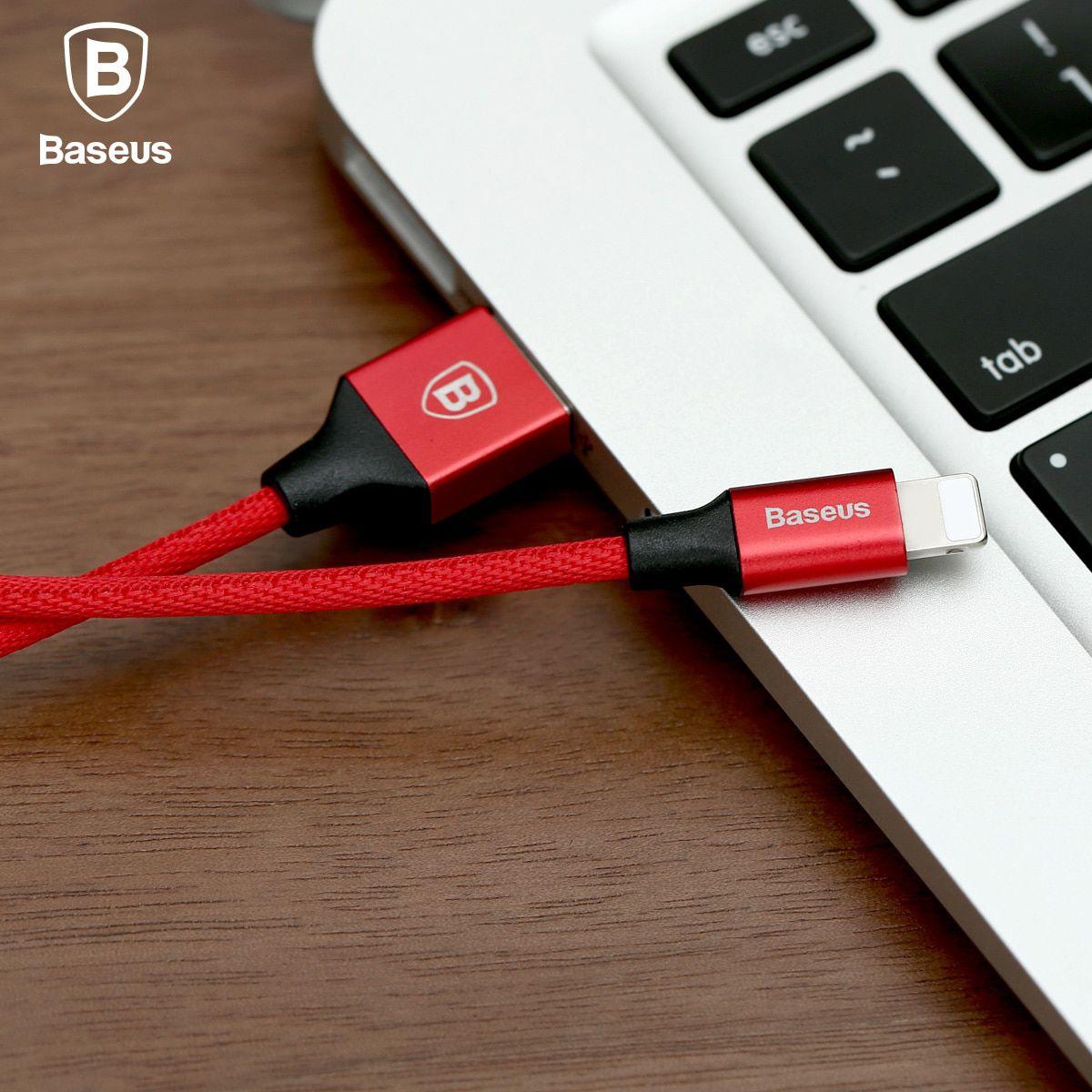 Cabo Original Baseus iPhone 1,8 Metros Super Resistente Vermelho