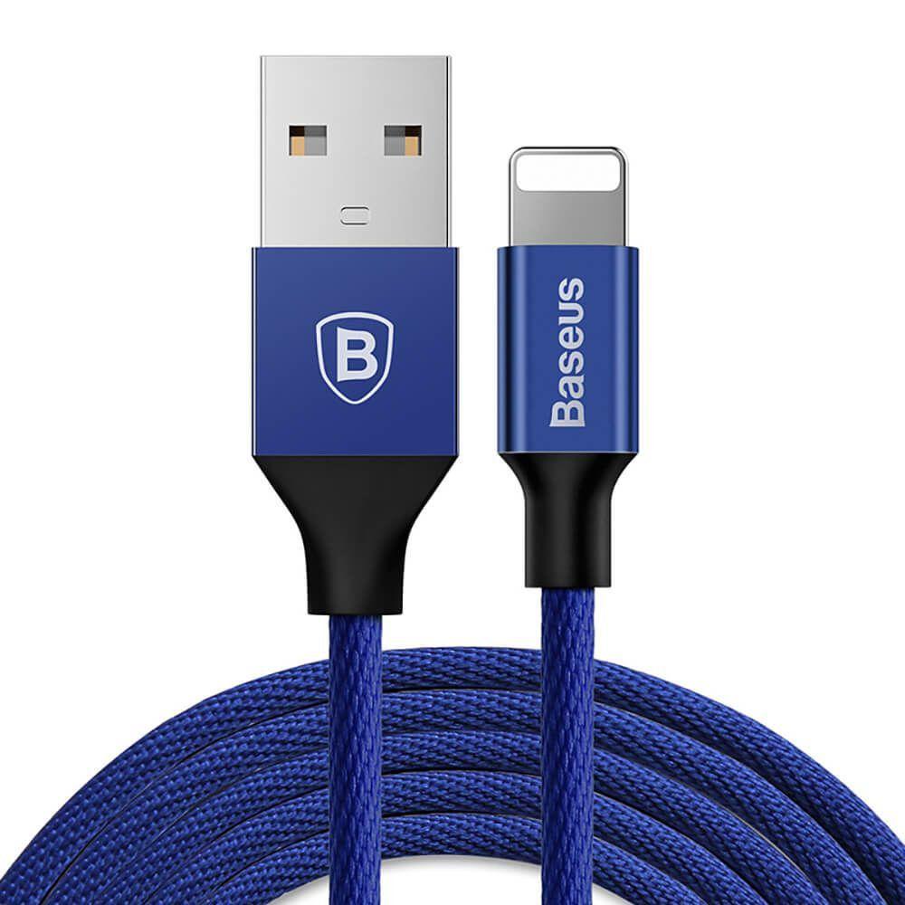 Cabo Original Baseus iPhone 1,8 Metros Super Resistente Azul