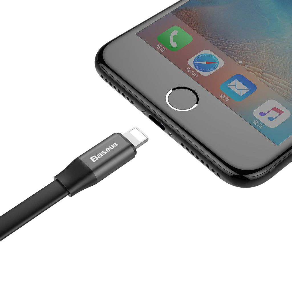 Cabo Original Baseus Iphone Ipad 23cm mini Preto