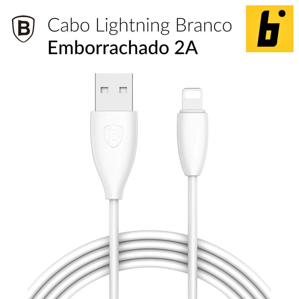 Cabo Original Baseus Iphones 6 7 8 Xs 1,2 metros Calmy Preto