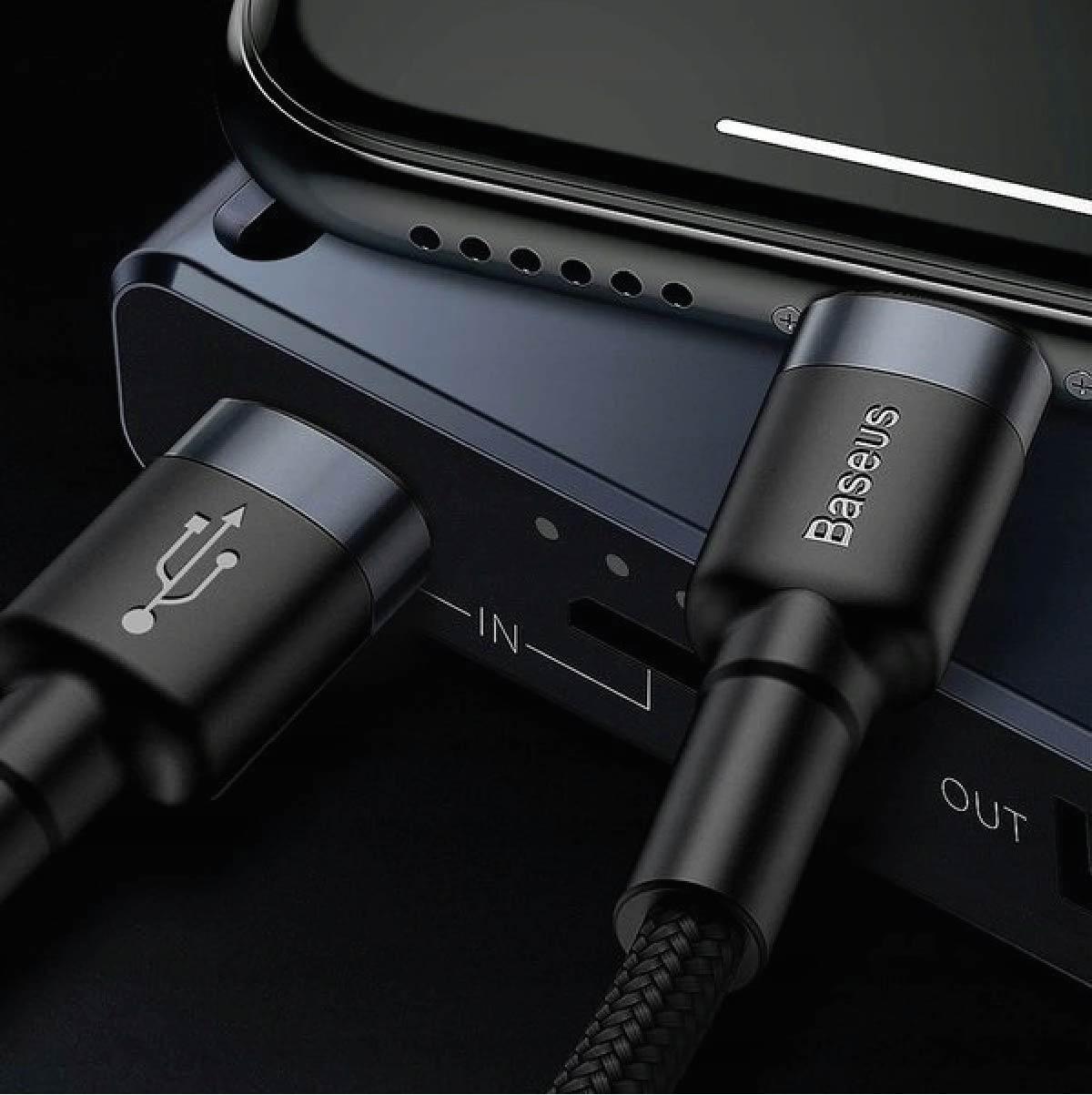 Cabo Para iPhone Baseus Cafule 18W 1 Metro Tipo-C Turbo PD QC 3.0