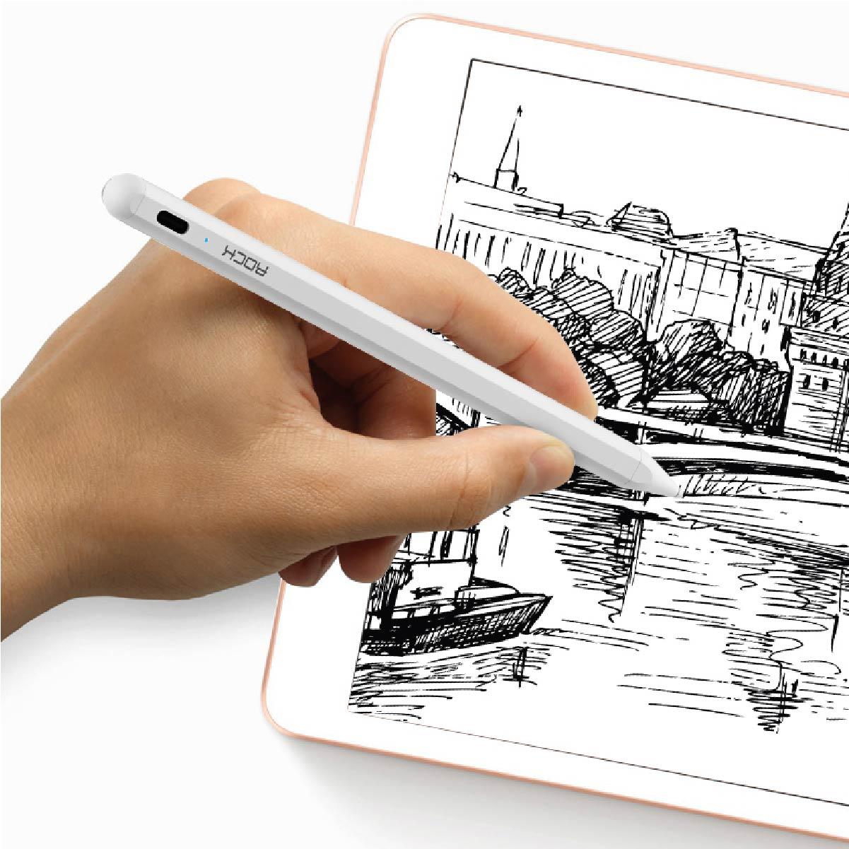 Caneta Stylus Rock B02 Capacitiva Magnética Ativa Para iPad Pro