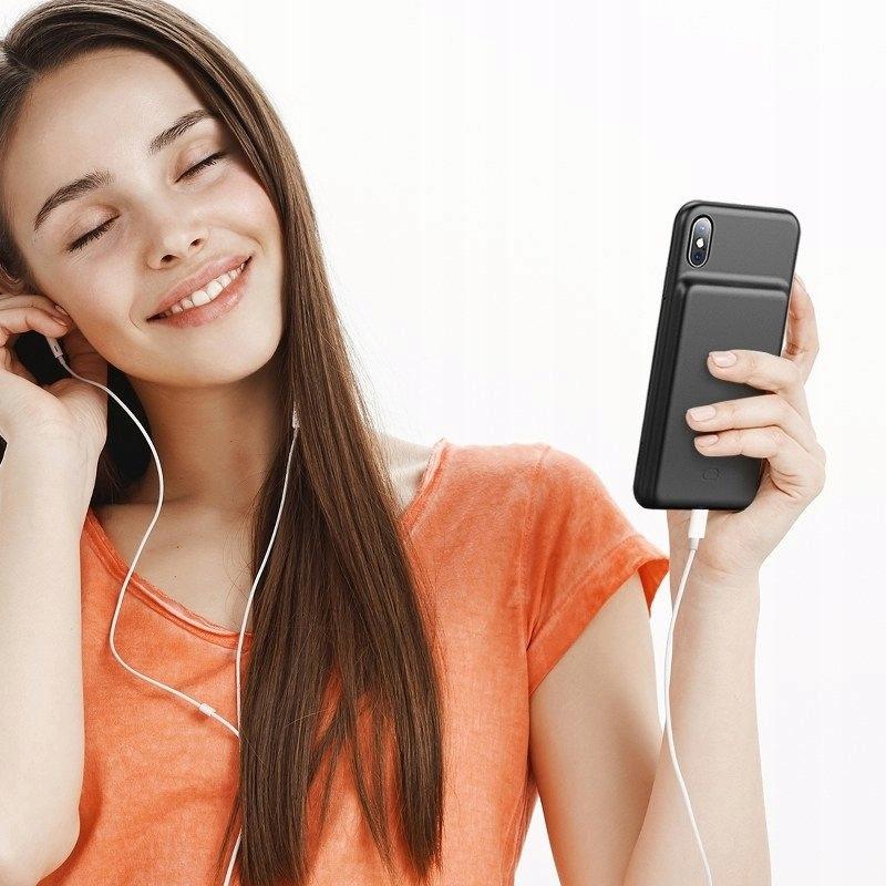 """Capa Carregadora Baseus Splint iPhone XR 6.1"""" com 3900 mAh"""