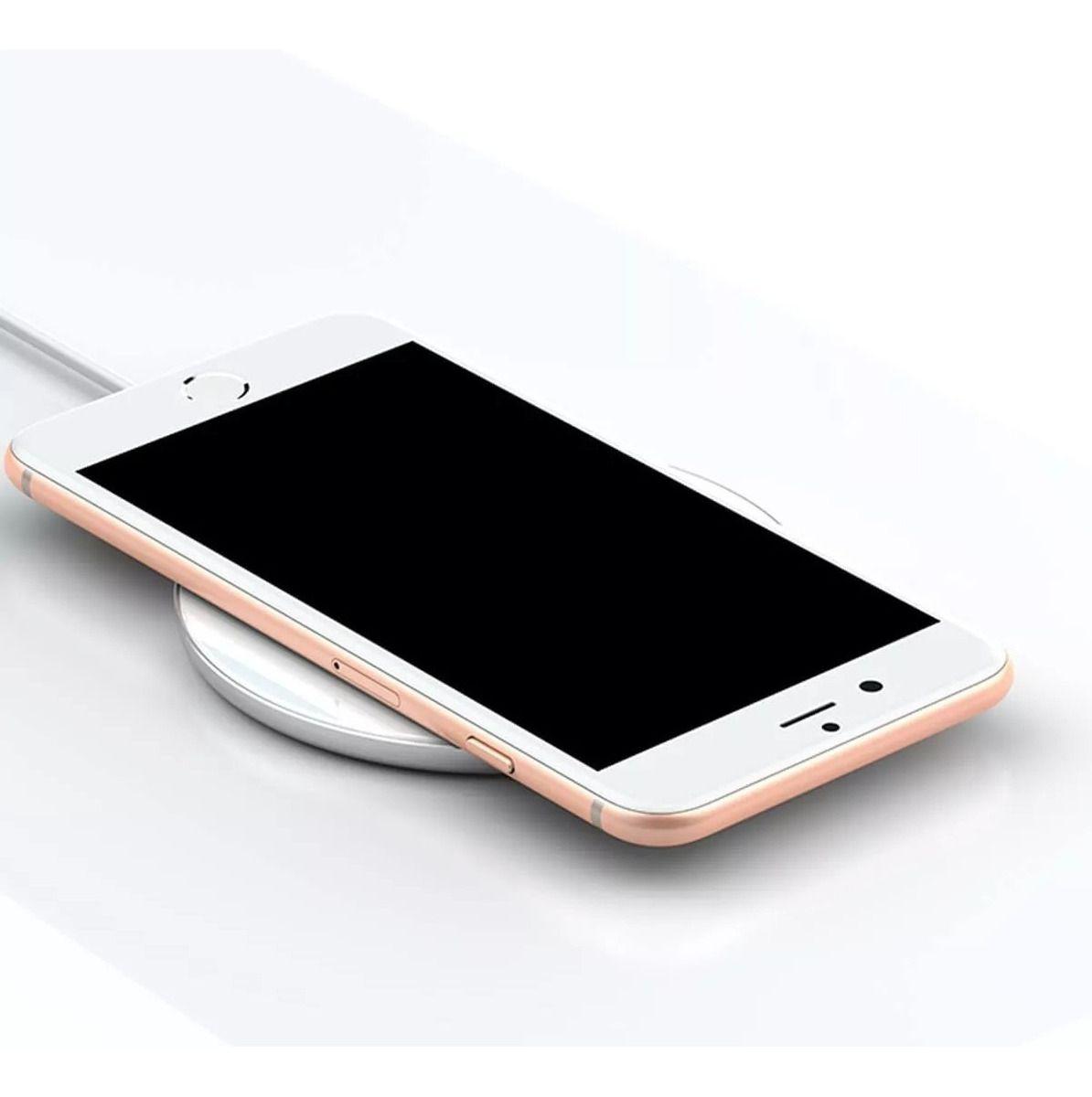 Carregador Baseus Sem Fio Wireless 10W Branco Iphone Samsung Motorola