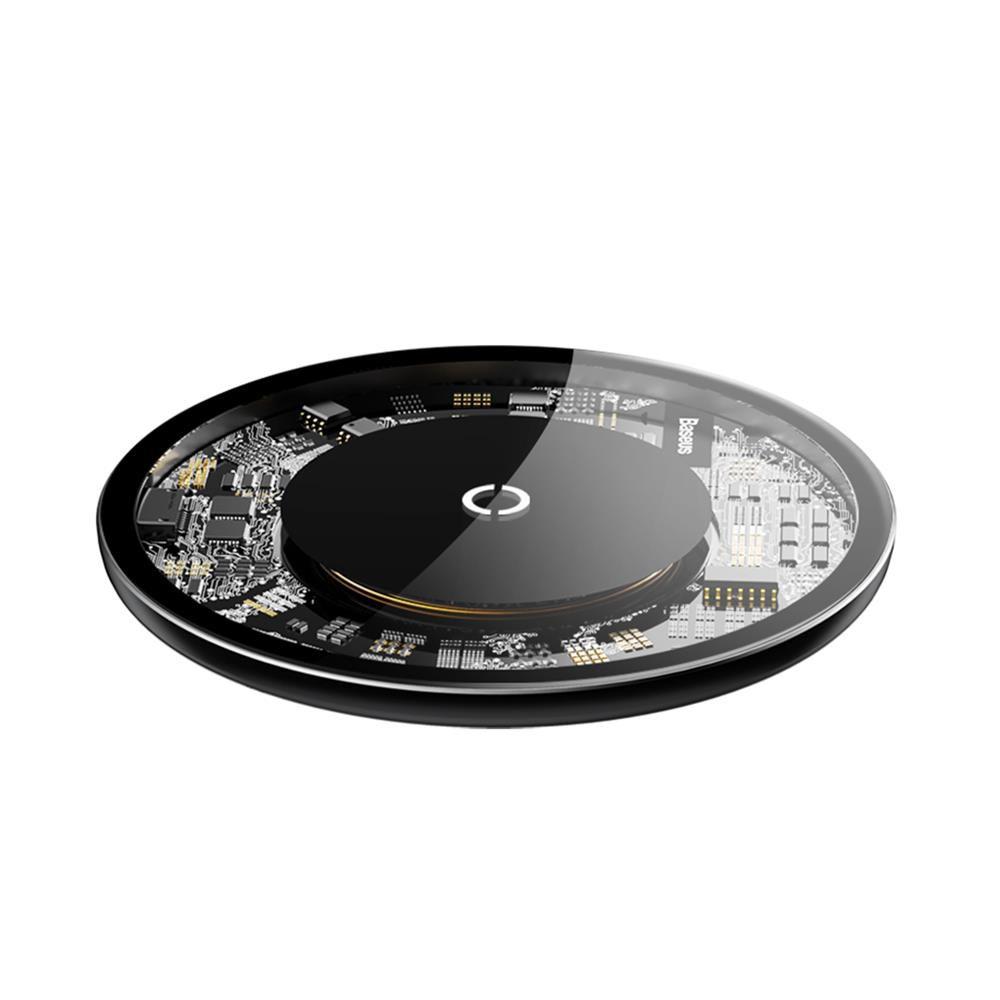 Carregador Baseus Sem Fio Transparente iPhone Samsung Motorola