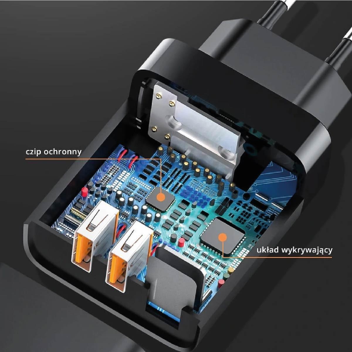 Carregador de parede Inteligente Baseus Dual Usb QC 3
