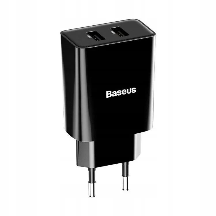 Carregador De Parede Tomada Duplo USB Baseus Speed Mini 2A 10,5 W Preto