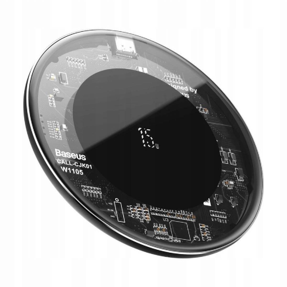 Carregador Por Indução Sem Fio Simple QI Baseus 15W Transparente