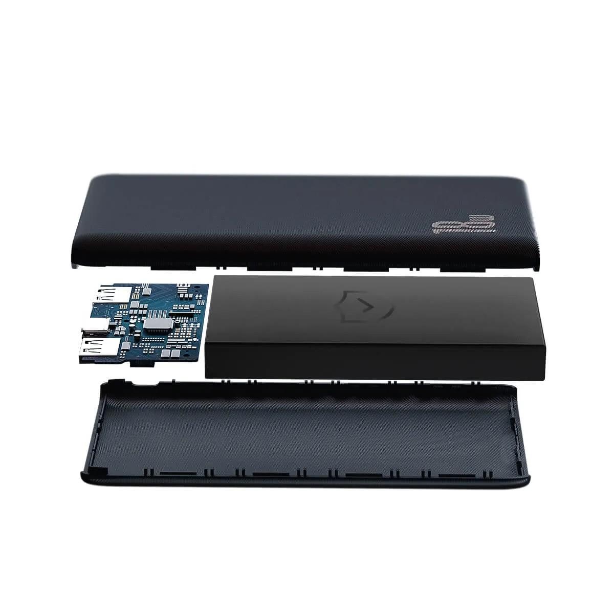 Carregador Portátil Baseus Power bank Bipow 10000mAh PD+QC 18w Preto
