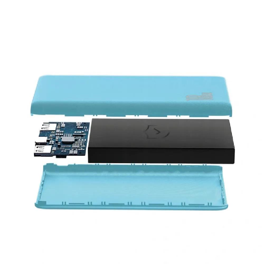 Carregador Portátil Baseus Power bank Bipow 10000mAh PD+QC 18w Azul