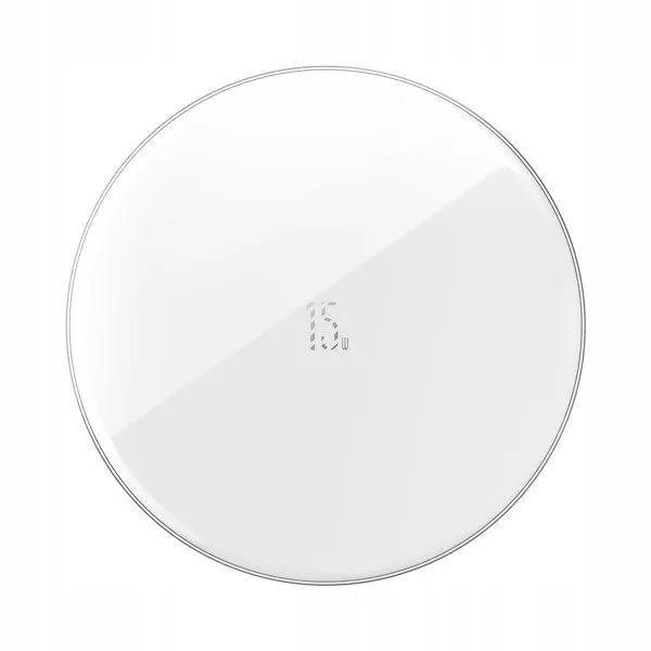 Carregador Sem Fio Baseus Simple Update Branco 15W Qi