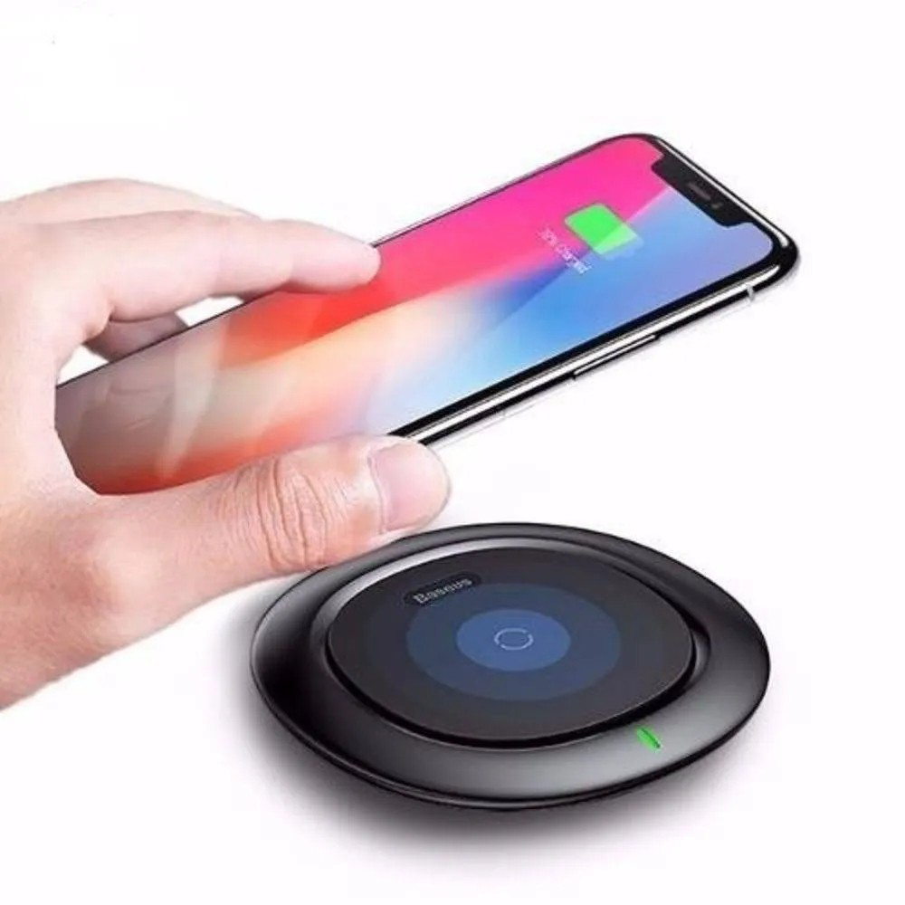 Carregador Sem Fio Indução Qi Baseus iPhone 8 Plus X Xs Max