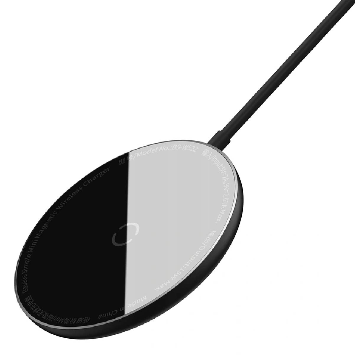 Carregador Sem Fio Magnetico Baseus Simple Mini Preto