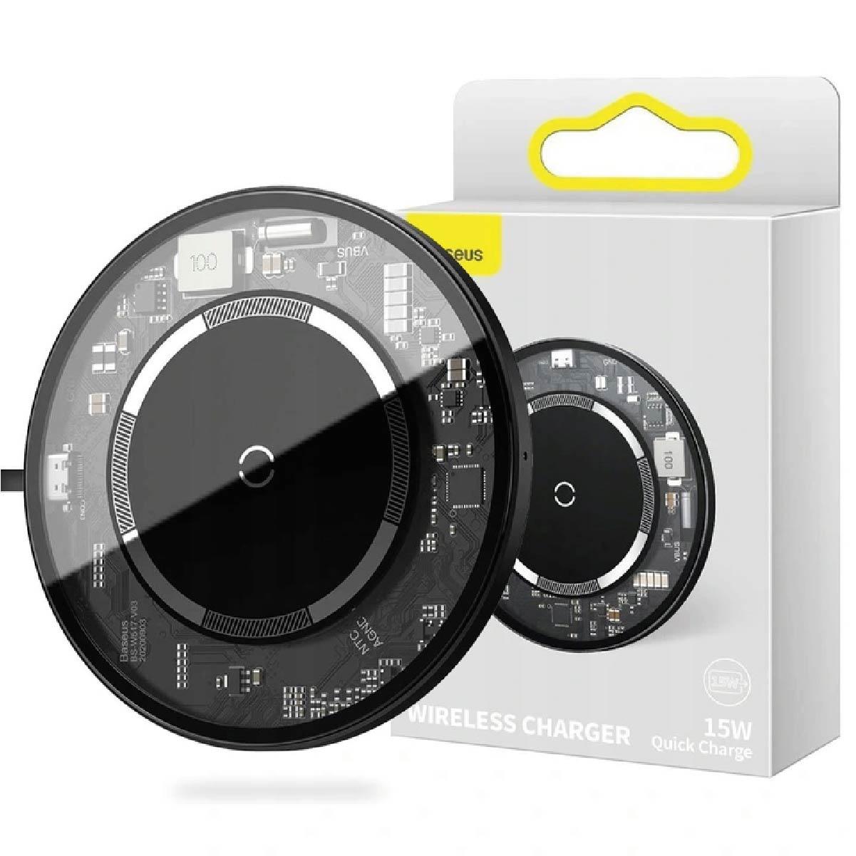 Carregador Sem Fio Magnetico Baseus Simple Transparente