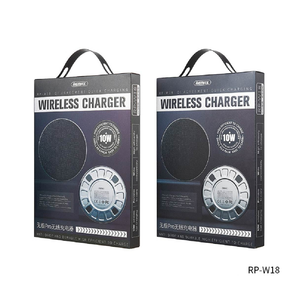 Carregador Sem Fio Wireless Qi 10w Carga Rápida Remax Rp-w18