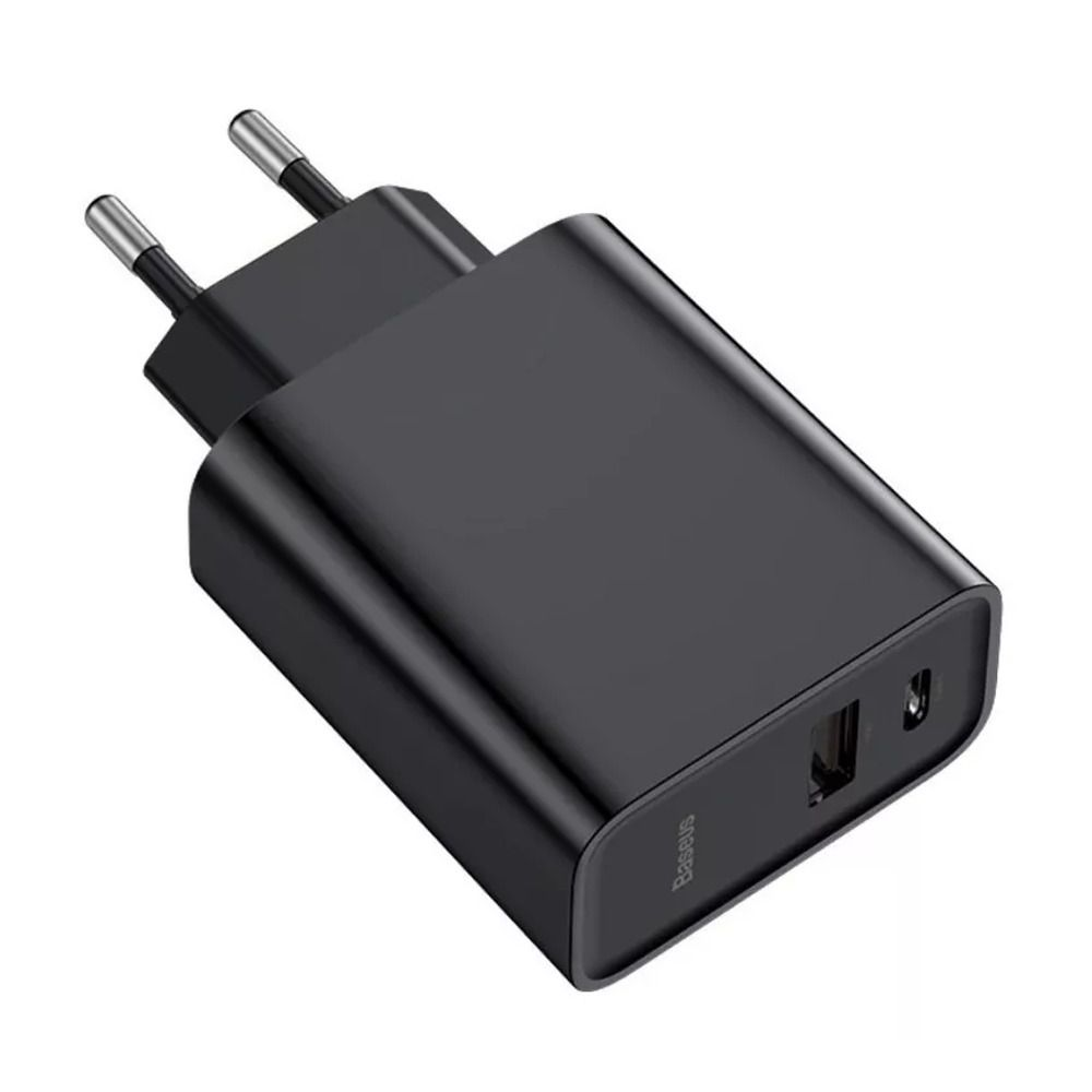 Carregador Turbo Baseus Quick Charge Pd Tipo C E Usb 30w
