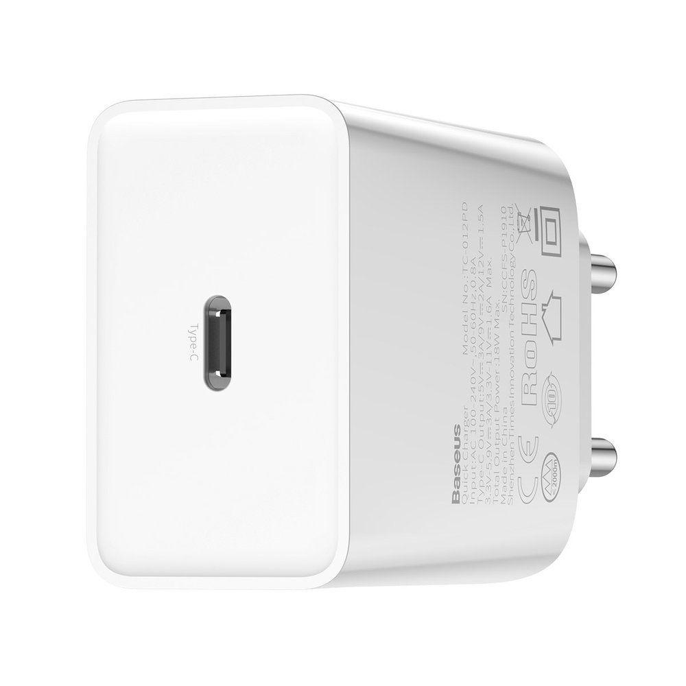 Carregador Turbo PD para Iphone c/ Cabo Original Baseus Branco