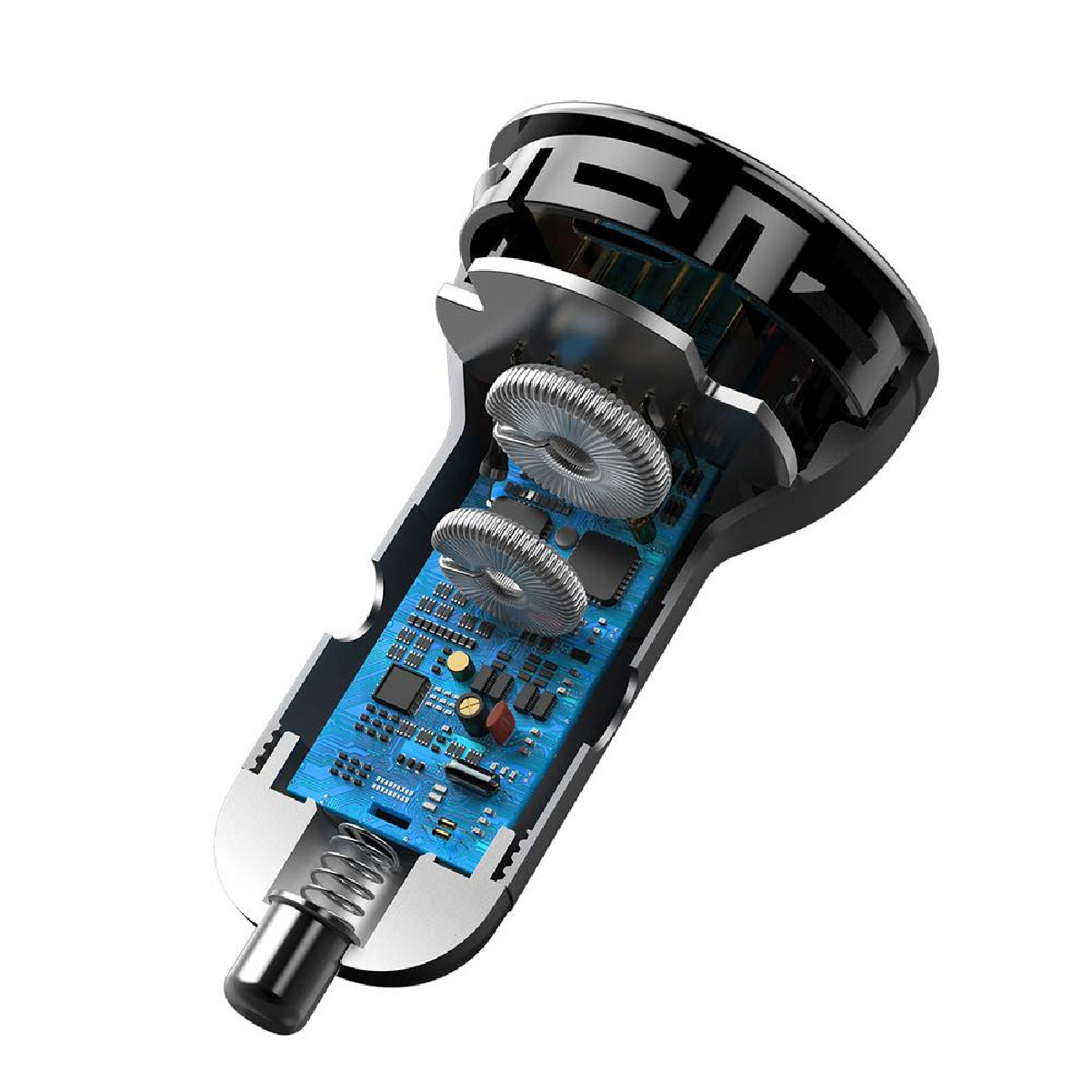 Carregador Veicular 45W com Cabo PD 60W Baseus USB + USB-C Carregamento Simultâneo