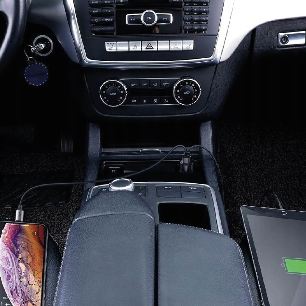 Carregador Veicular com Display Digital Baseus Magic Series Dual QC 45W