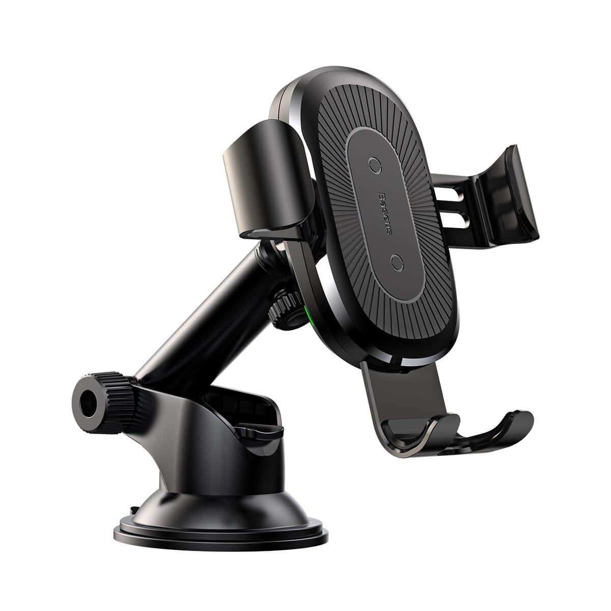 Carregador Veicular com Suporte Wireless / Sem Fio / Qi - Baseus