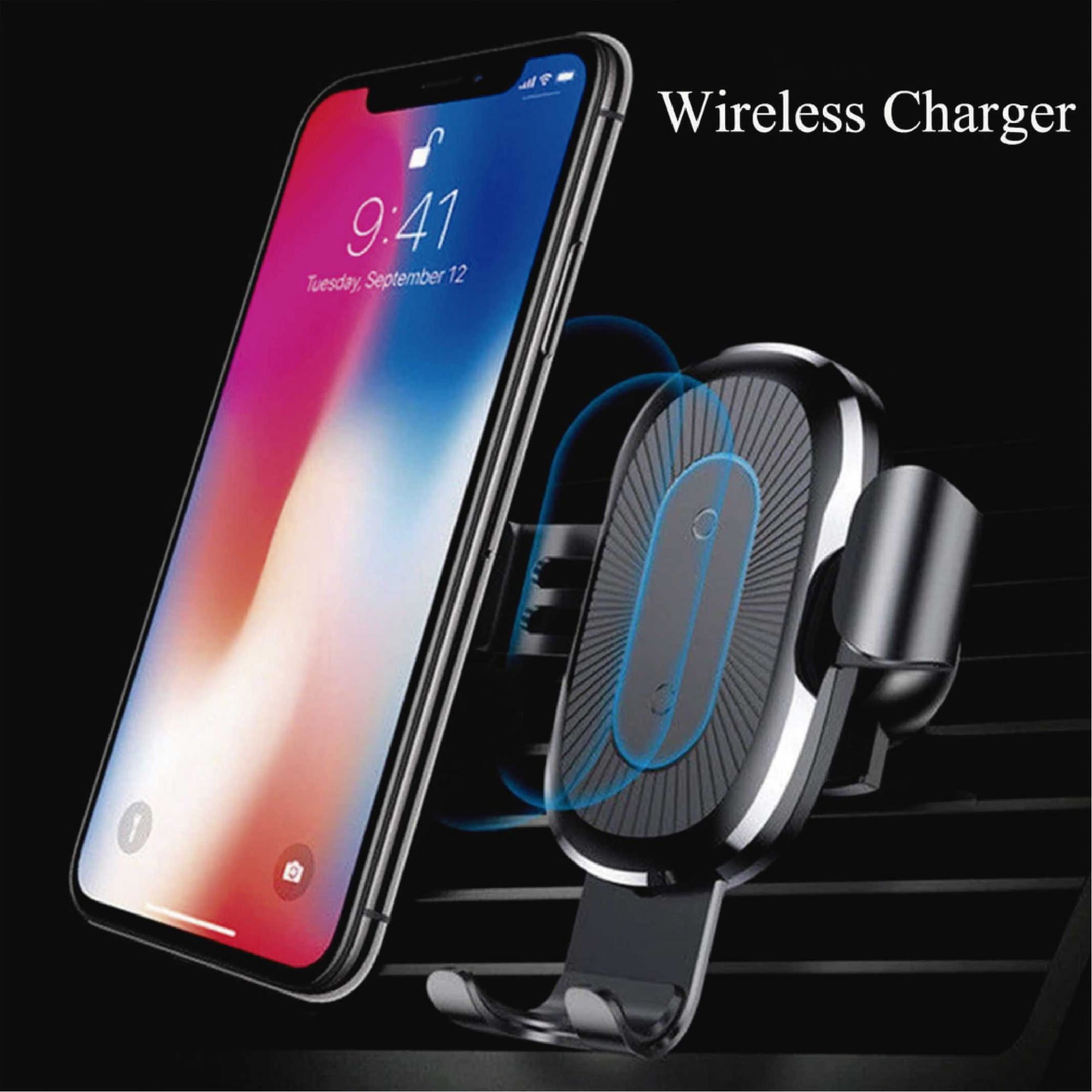 Carregador Veicular Sem Fio Wireless Baseus Iphone Samsung Xiaomi