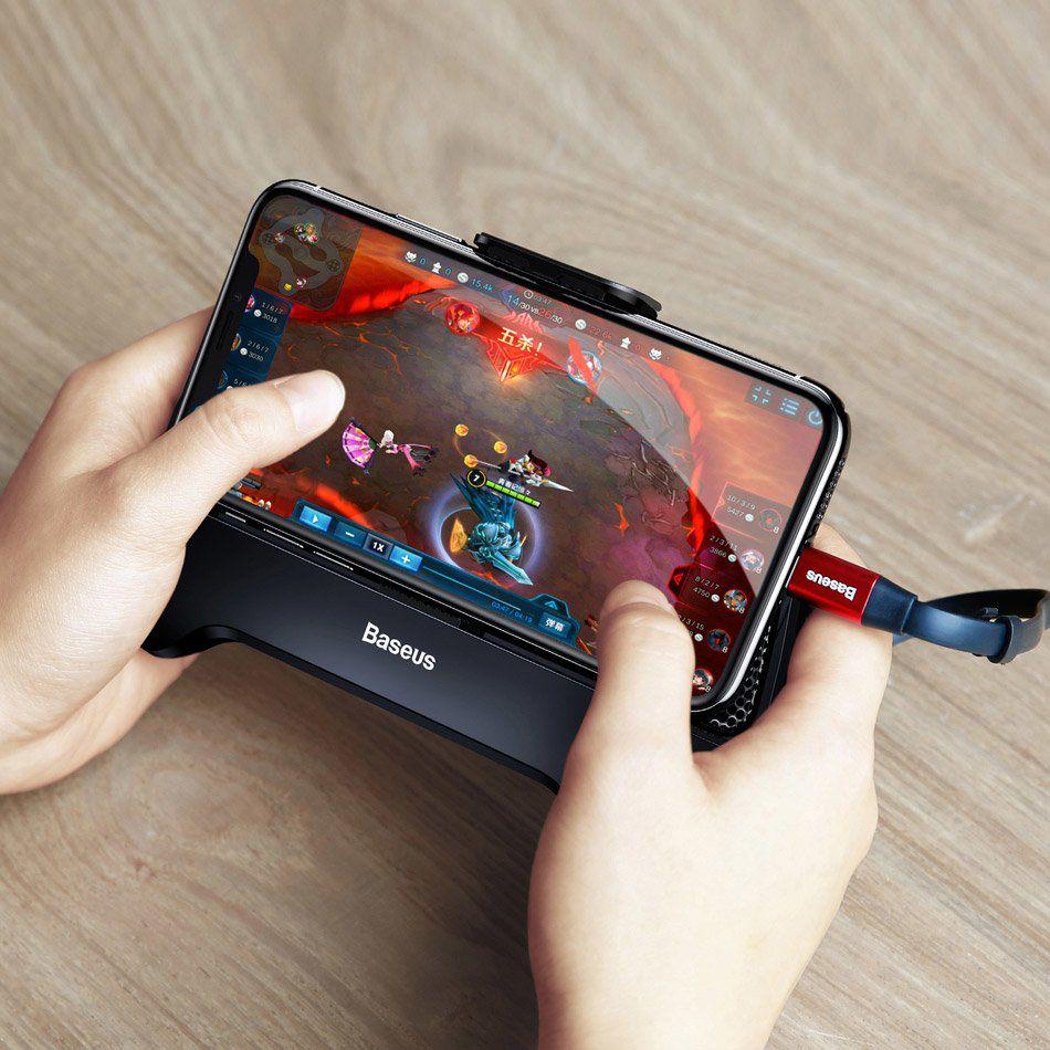 Controle Gamer para Celular Gamepad Baseus - 2 Fan e Bateria