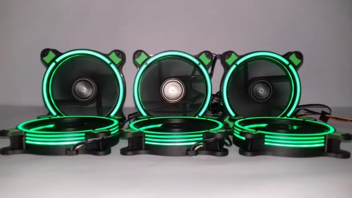 Cooler 120mm Led Ring Pc Gamer Fan Gabinete Mymax Spectrum Verde