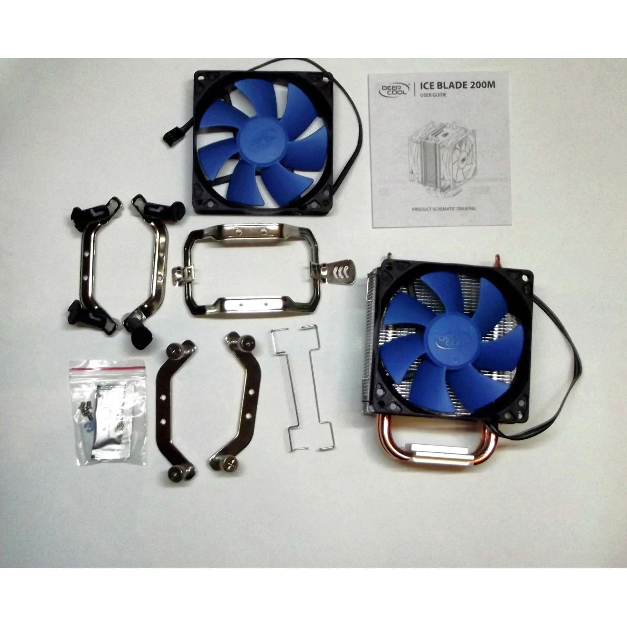 Cooler Para Processador Intel/amd Deepcool Ice Blade Blue 92mm 200m DP-MC8H2-IB200M