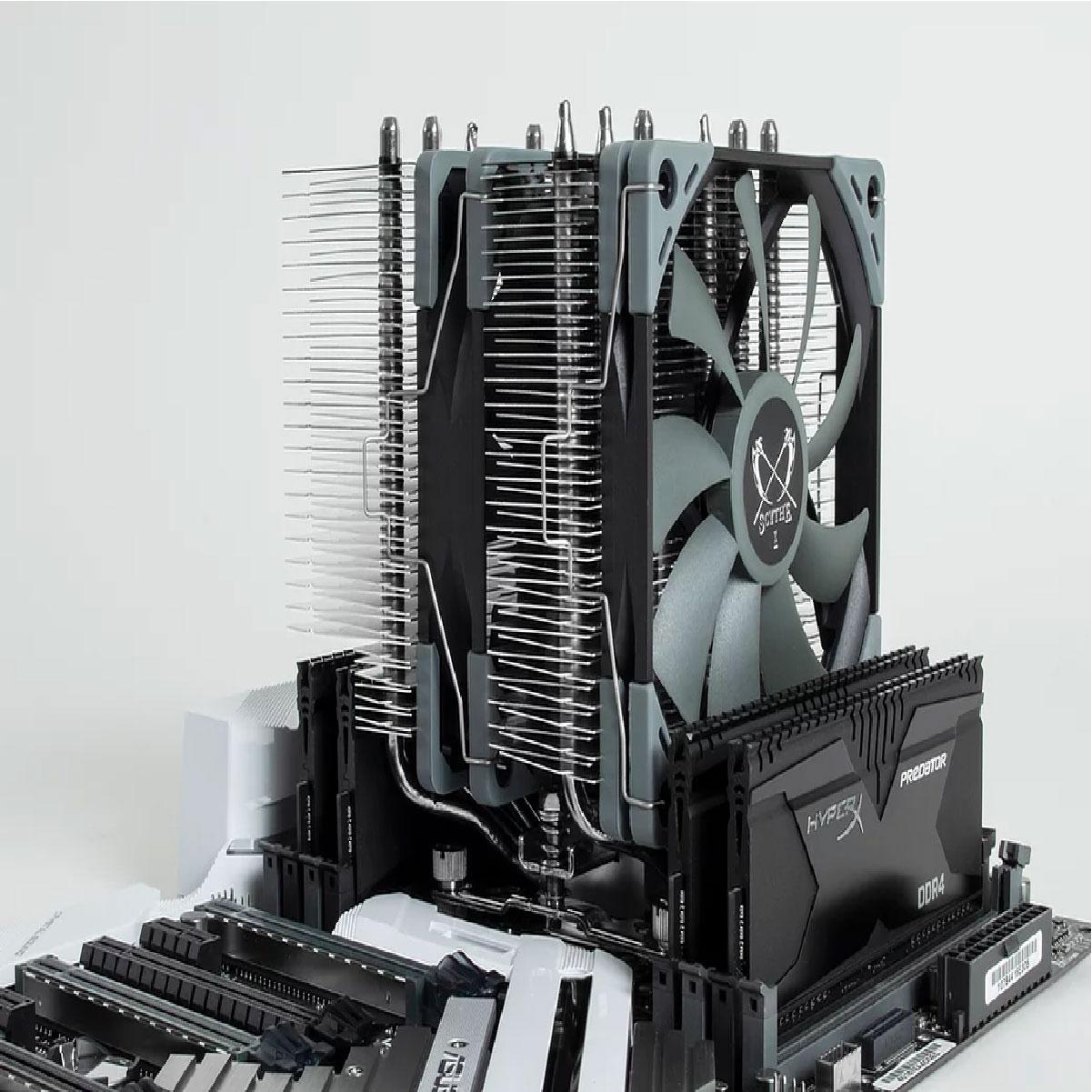 Cooler Para Processador Scythe Fuma 2 AMD/ INTEL 2 Fans Kase Flex 120mm Preto