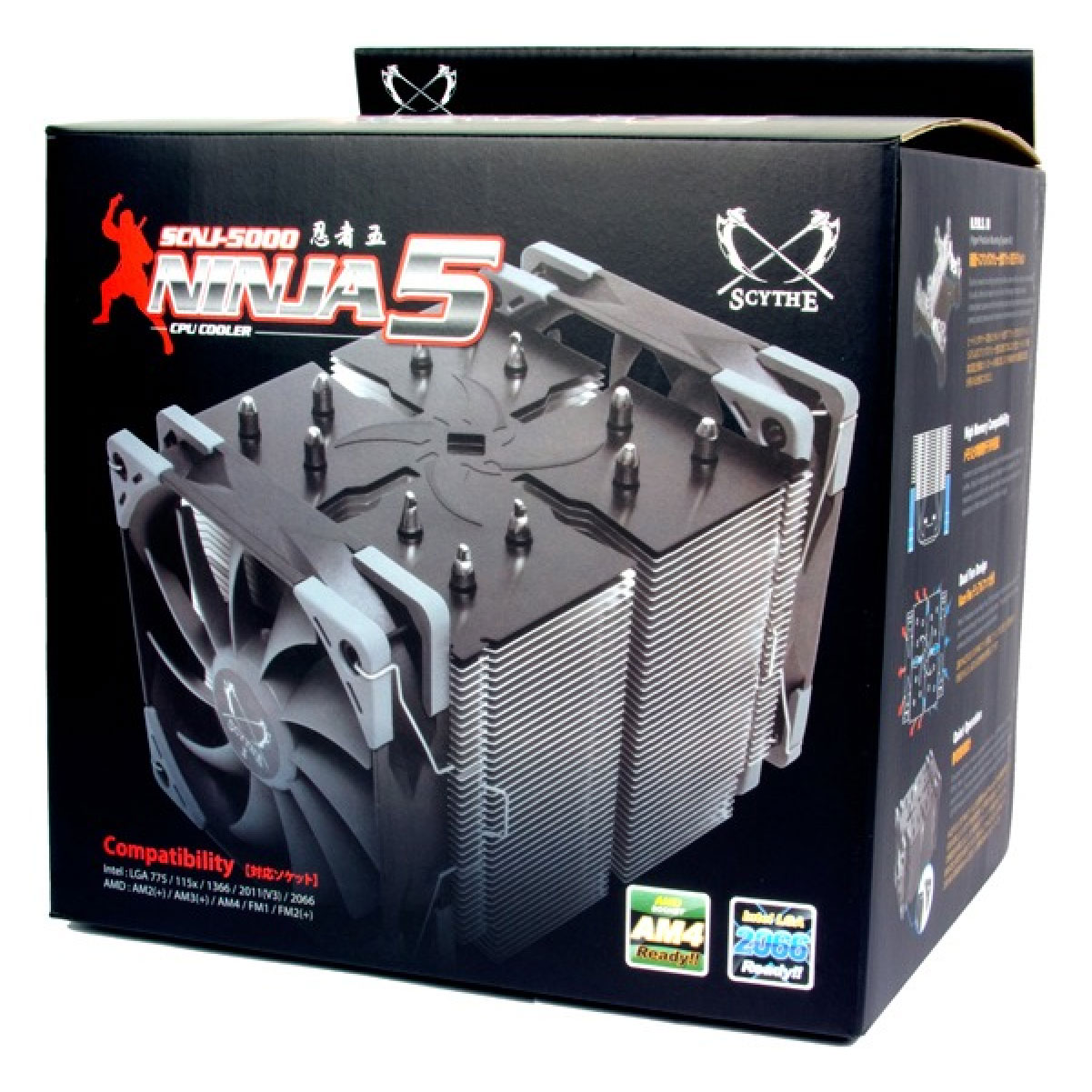 Cooler Para Processador Scythe Ninja 5 AMD/INTEL 2 Fans 120mm Preto