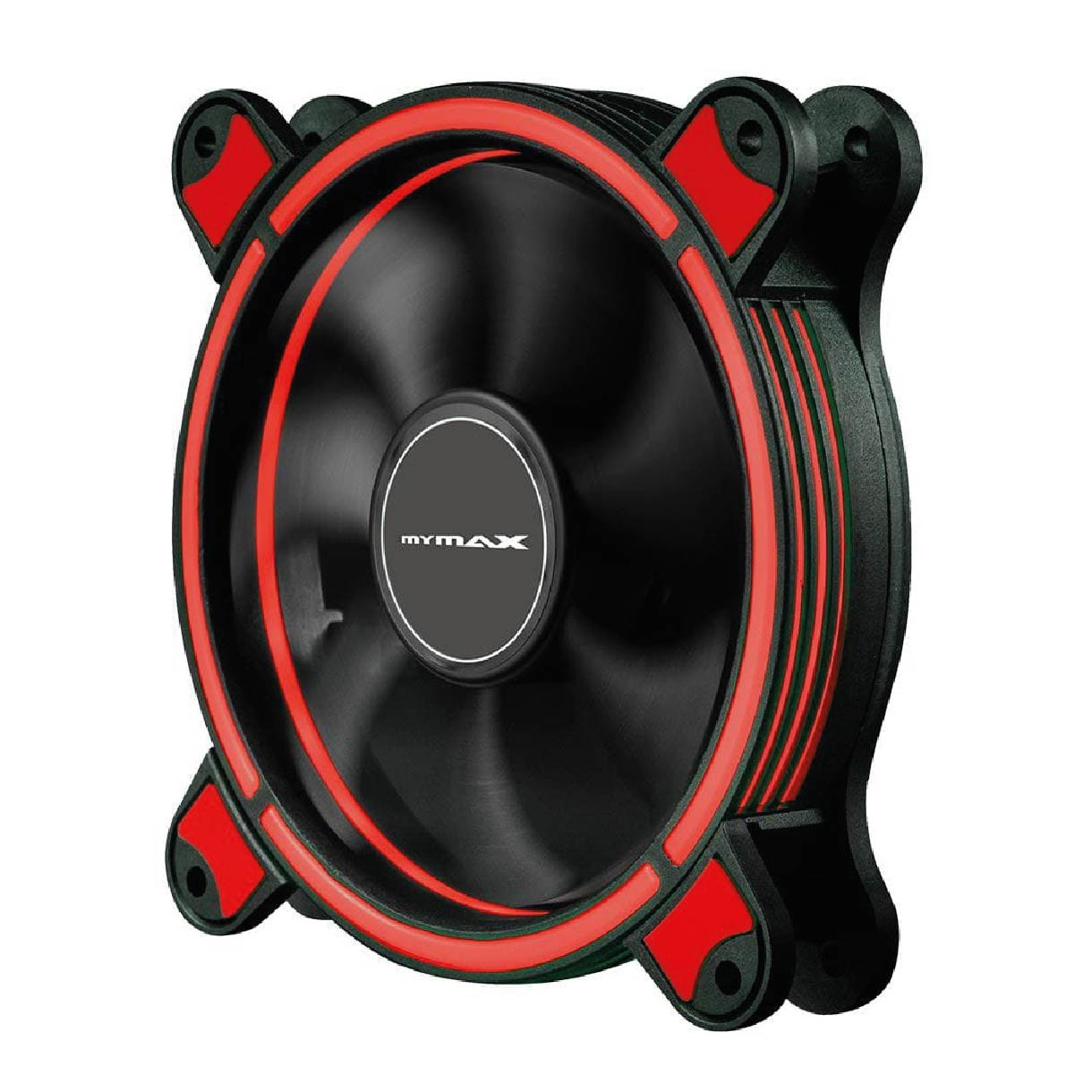 Fan Cooler Gamer 120mm Mymax Spectrum Led Vermelho Para Pc Gabinete