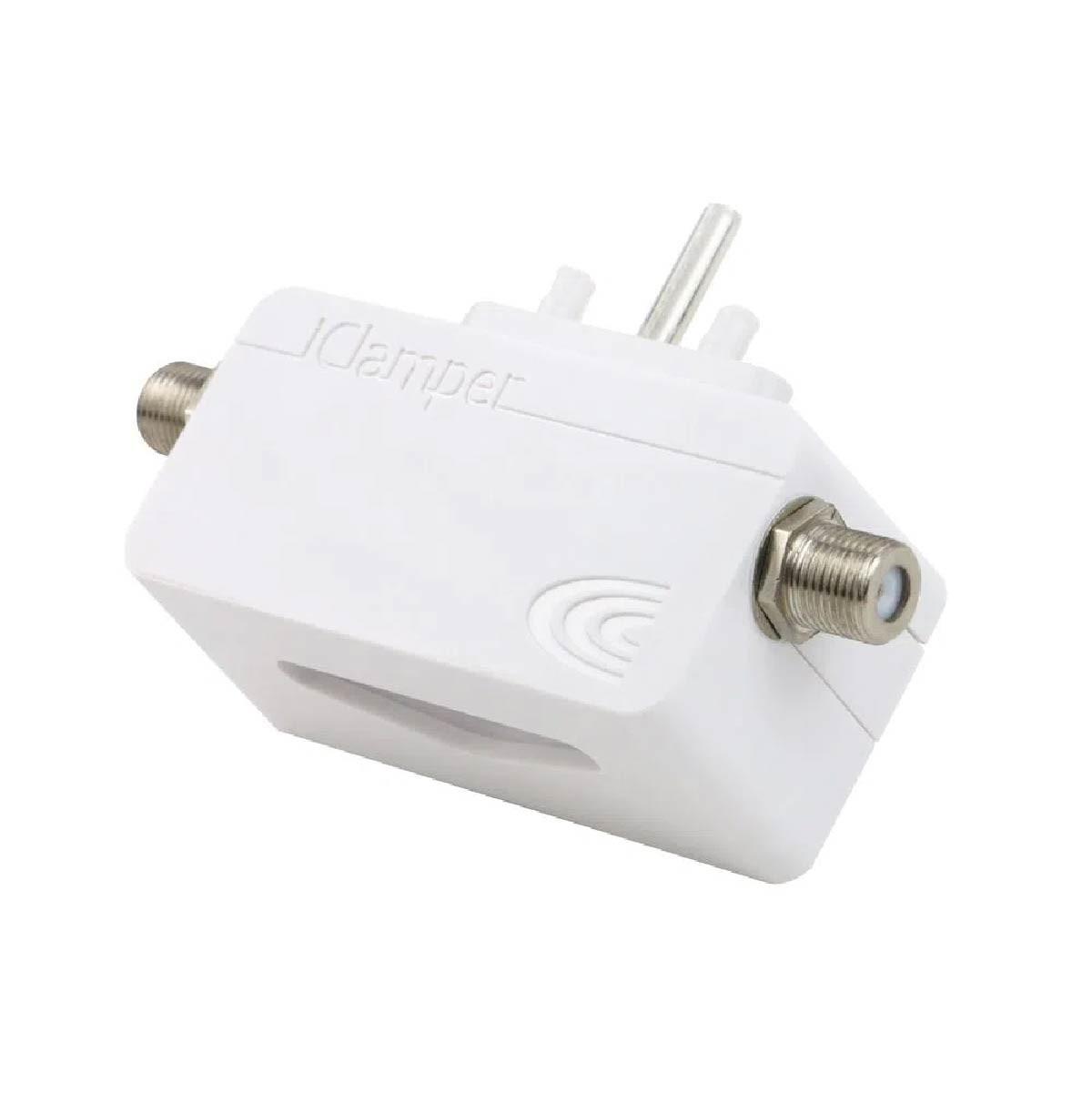 Filtro de Linha Clamper DPS Proteção Para Cabos TV/Modems/Antenas/Parabólicas Branco