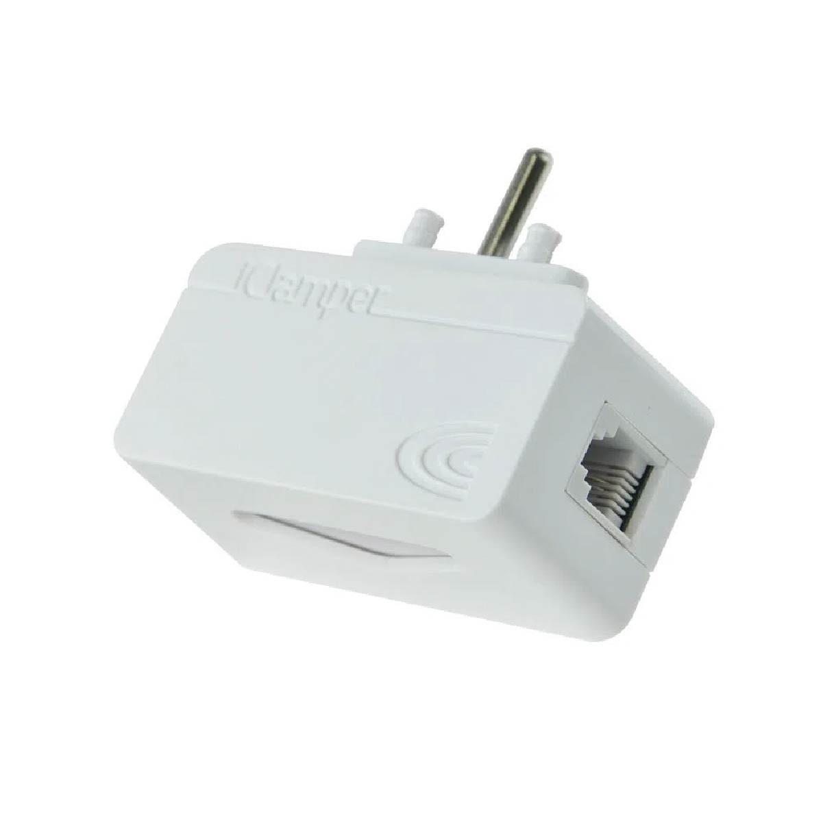 Filtro de Linha Clamper DPS Proteção Para Linhas Telefônicas/modemsADSL/centrais Branco