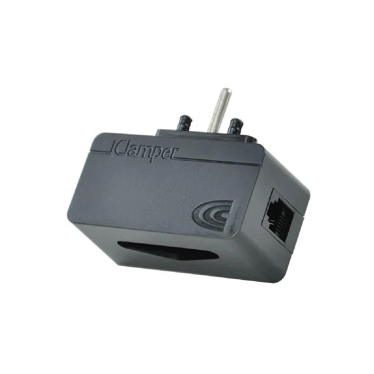 Filtro de Linha Clamper DPS Proteção Para Linhas Telefônicas/modemsADSL/centrais Preto