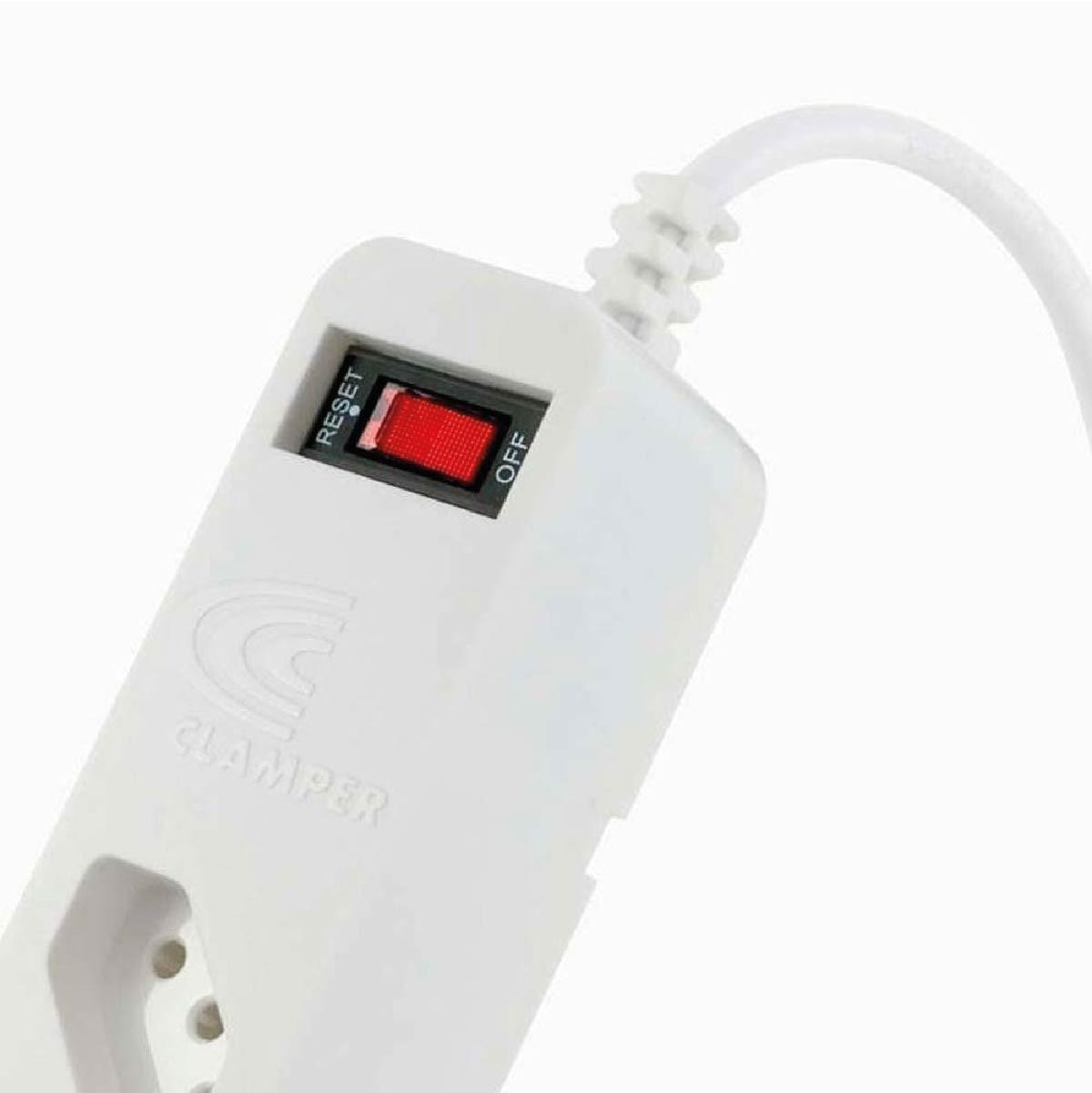 Filtro de linha DPS iClamper Energia 5 Protetor contra Surto Elétrico Branco