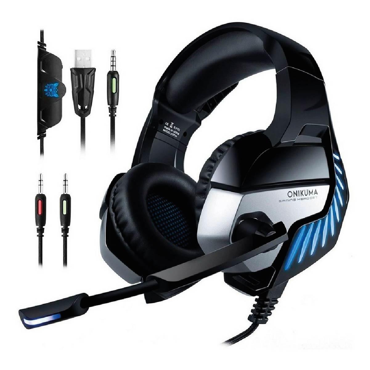 Fone De Ouvido Gamer Headset Onikuma K5 Pro Com Led