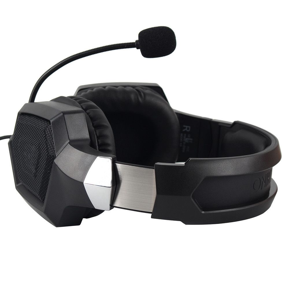 Fone de Ouvido Gamer Headset Onikuma K8 Preto Rgb
