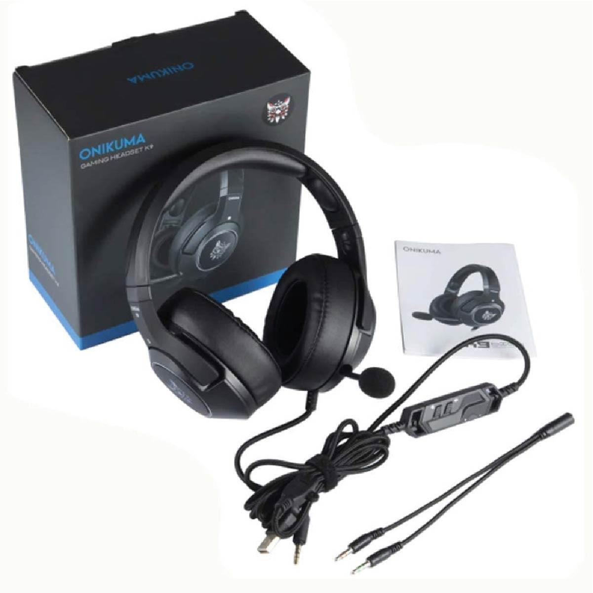 Fone De Ouvido Gamer Headset Onikuma K9 Com RGB