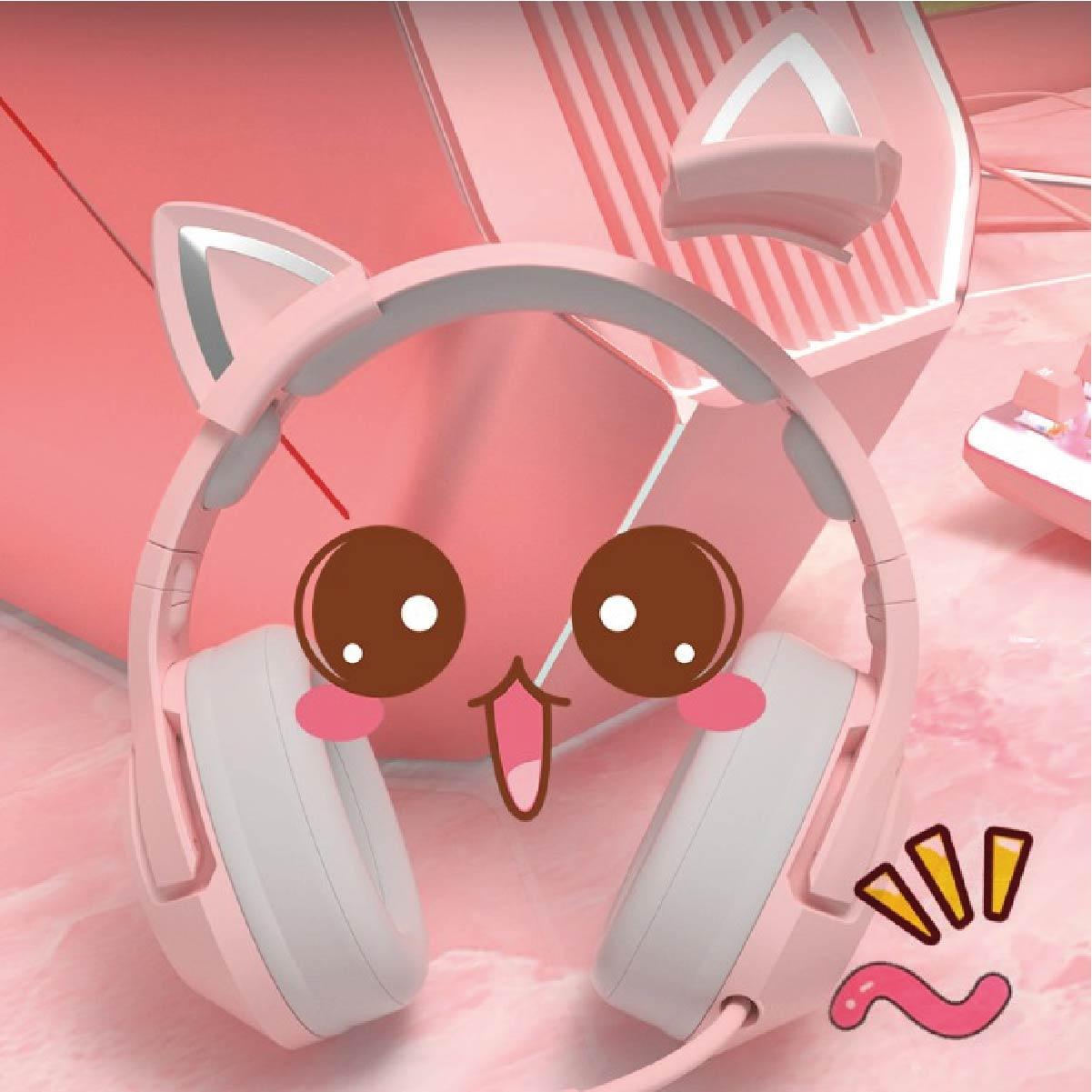 Fone De Ouvido Gamer Headset Onikuma K9 Gatinho RGB
